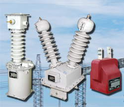 Voltage transformer and power line transformers