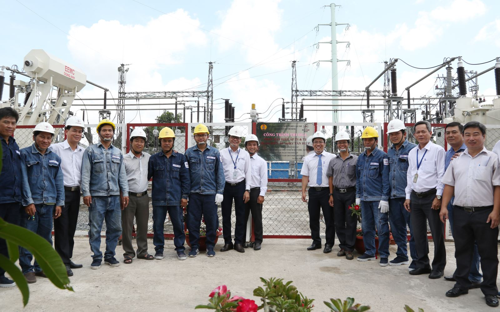 Ceremony of emulating the Tan Hiep 110kV substation