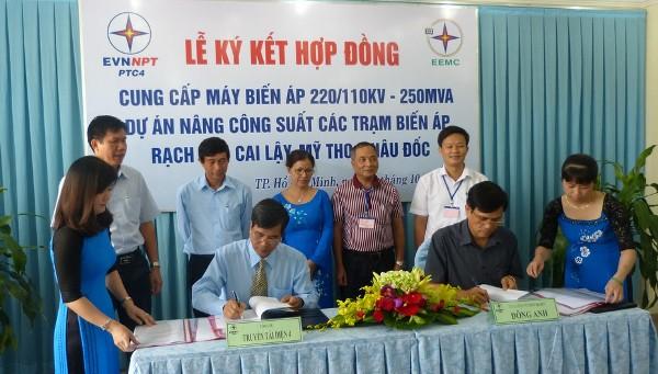 Lễ ký hợp đồng cung cấp 04 máy biến áp 220kV - 250MVA