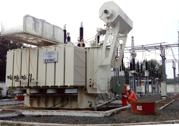 EEMC cung cấp để thay máy biến áp trạm 110kV Tam Phước