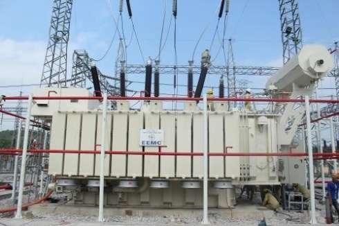 Máy biến áp do Tổng Công ty Thiết bị điện Đông Anh sản xuất đóng điện tại TBA 220kV Hoành Bồ