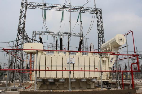 Đóng điện thành công máy biến áp trạm Thái Bình