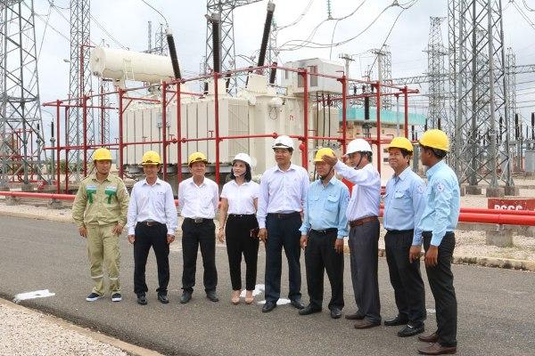 Máy biến áp 220kV của EEMC lắp đặt tại trạm Châu Đốc cấp điện sang Campuchia