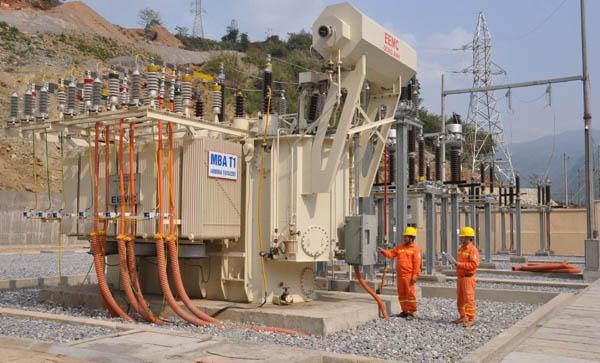 Đóng điện máy biến áp 110kV Sông Chảy do EEMC cung cấp