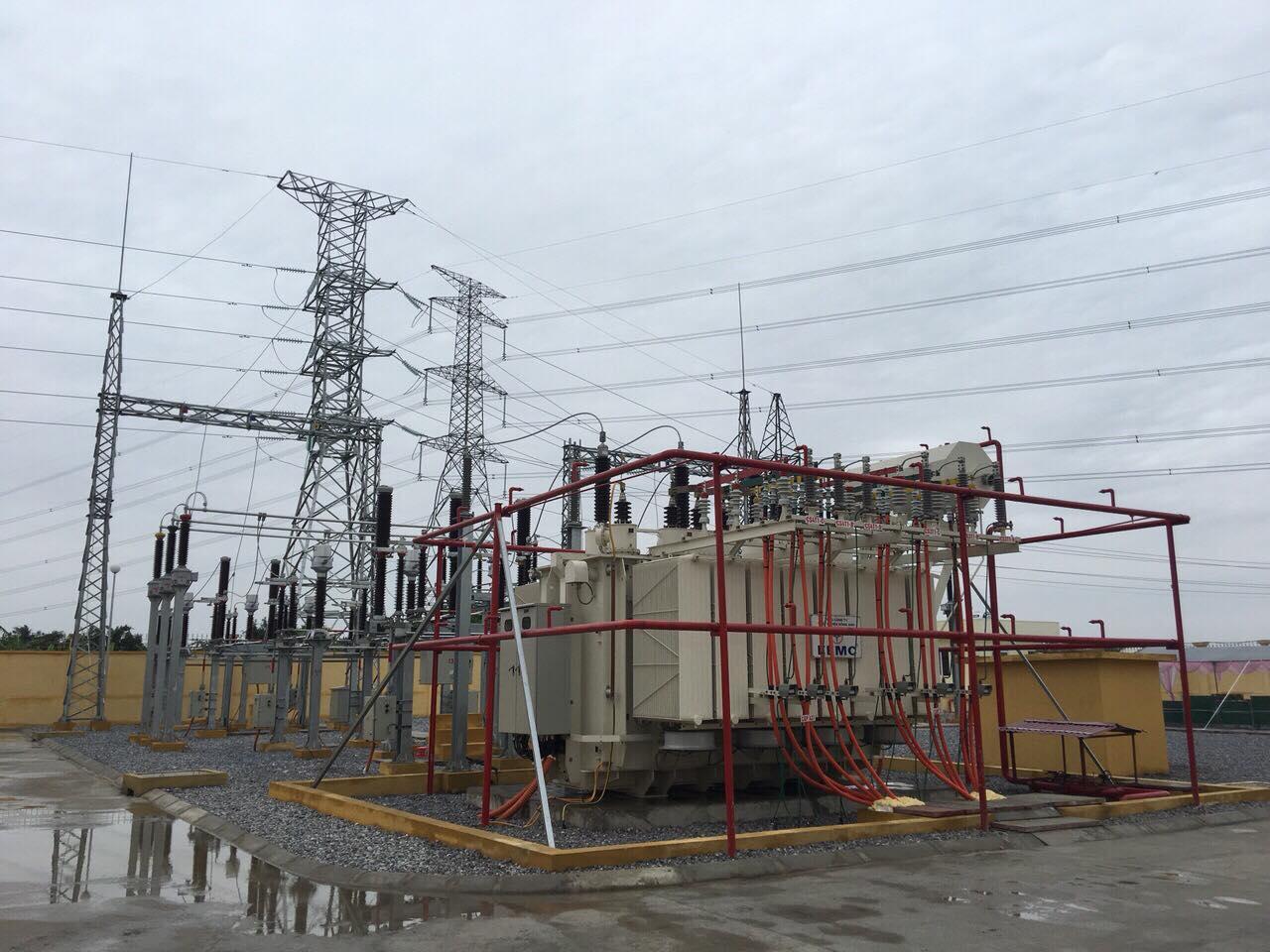 Đóng điện máy biến áp 63MVA do EEMC cung cấp tại Trạm biến áp Văn Giang 2