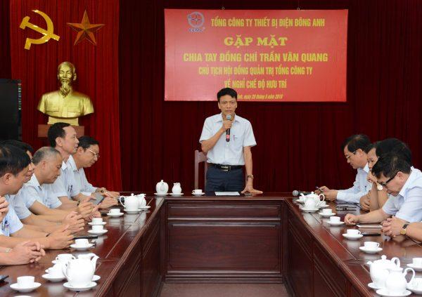 Lễ chia tay và tri ân đồng chí Trần Văn Quang – Chủ tịch HĐQT EEMC về nghỉ chế độ hưu trí