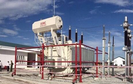 Trạm biến áp 110kV do Tổng thầu EEMC thi công tại Nhà máy điện mặt trời Cẩm Hòa đã chính thức hòa lưới quốc gia ngày 12/6/2019