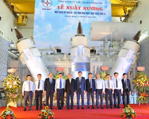 EEMC: Lễ xuất xưởng máy biến áp 3 pha 467MVA – 500/18kV  Thủy điện Lai Châu-Sơn La